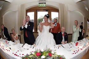 Essex toastmaster Richard Palmer announces bride and bridegroom